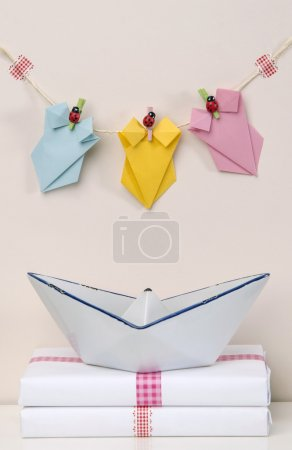 creative decoration swimwear origami boat