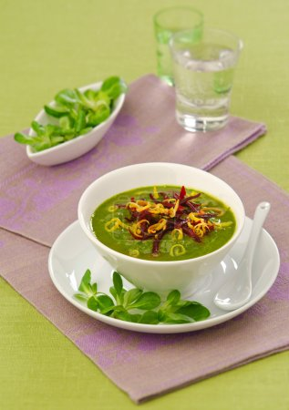 vegetable puree soup green