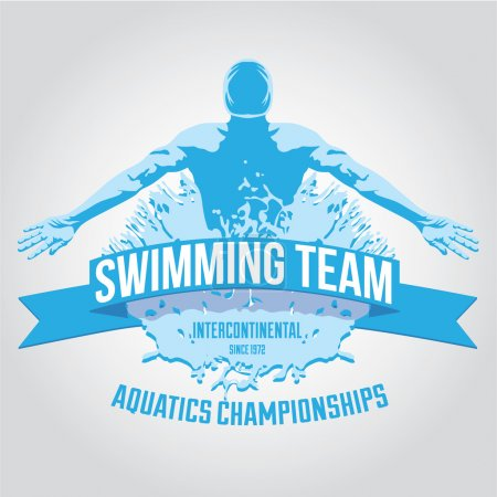 Swimming team logo