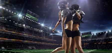 American football woman players