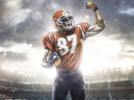 Photo for American football player in action on stadium - Royalty Free Image