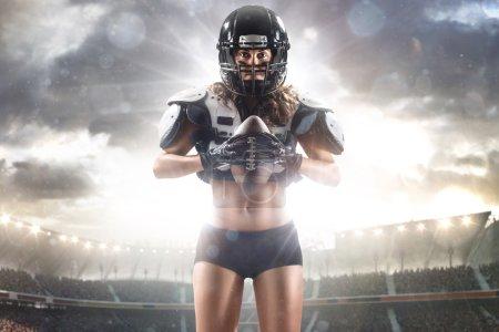 American football woman player