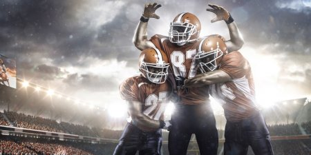 Photo for American football players in action on stadium - Royalty Free Image
