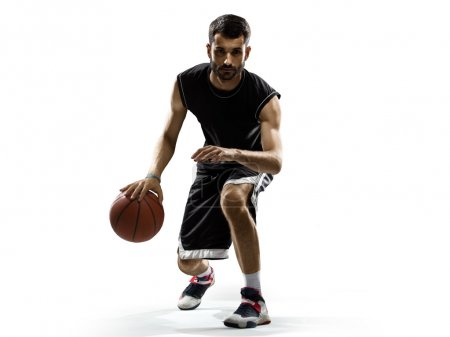 Photo for Isolated Basketball player in action - Royalty Free Image