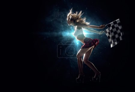 Photo for Young sexy girl starts the night drag race - Royalty Free Image