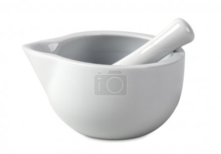 Mortar and pestle of marble
