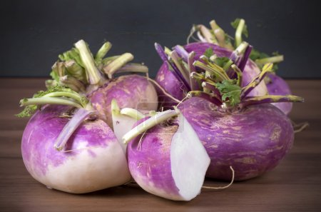 raw fresh red turnips