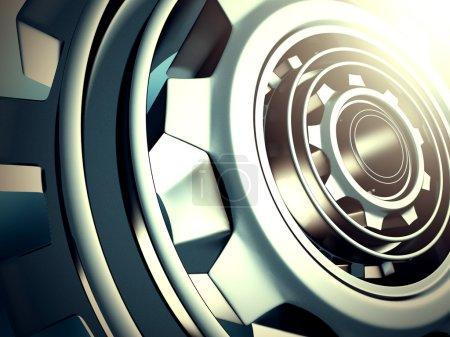 Metallic Cogwheel Gears