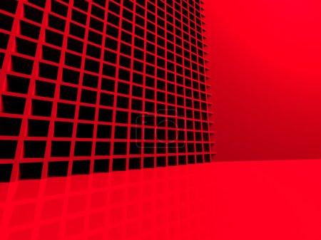 Photo pour Futuristic Red Abstract 3d Background. Illustration de rendu 3d - image libre de droit