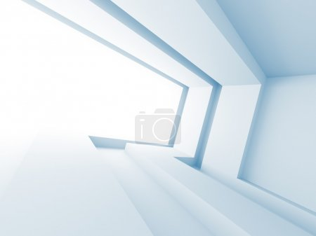 Photo for Abstract Architecture Design. Futuristic Background. 3d Render Illustration - Royalty Free Image
