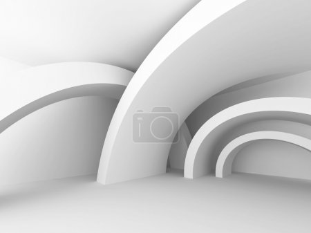 Photo for Futuristic Light Design Architecture Background. 3d Render Illustration - Royalty Free Image