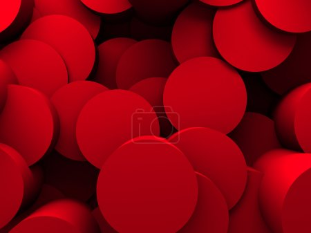 Abstract Red Round Pattern