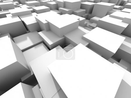 White Cubes Construstion Abstract Background
