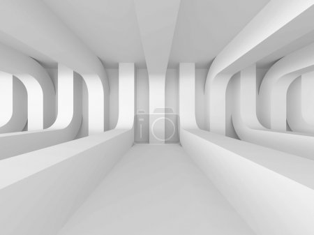 Photo pour Résumé White Architecture Futuristic Background. Illustration de rendu 3d - image libre de droit