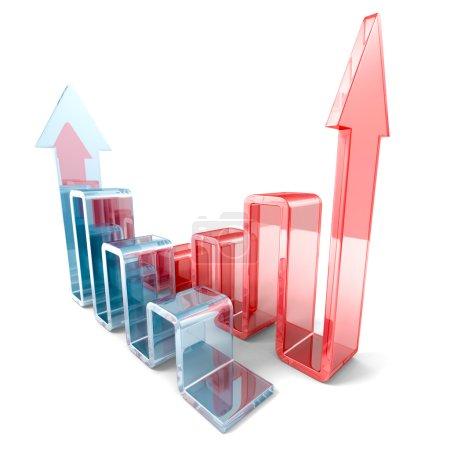 Success business growth bar