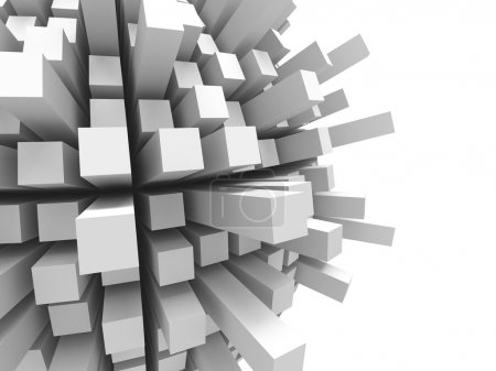 Abstract futuristic cubes background