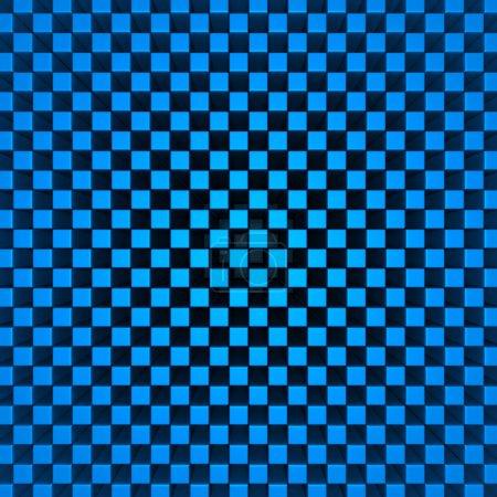 Blue Checker Pattern Cubes