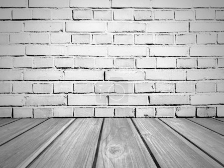 Brick Wall And Wooden Floor