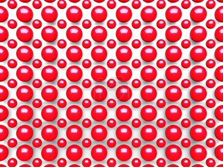Abstract Red Spheres Pattern