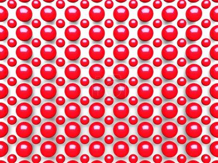 Photo pour Résumé Schéma des sphères rouges Contexte. Illustration de rendu 3d - image libre de droit