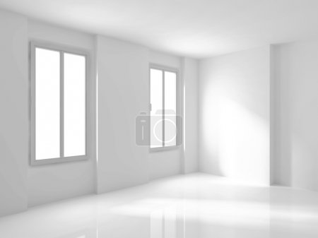 White Empty Room Interior