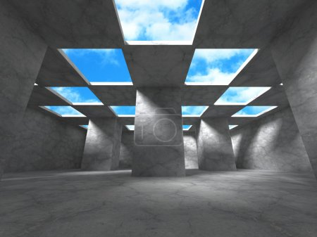 Abstract Building modern design