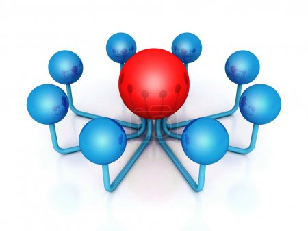 Sphere in center of network
