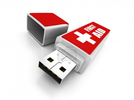 First aid usb flash drive
