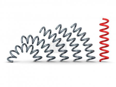 Red bent spring spiral leader