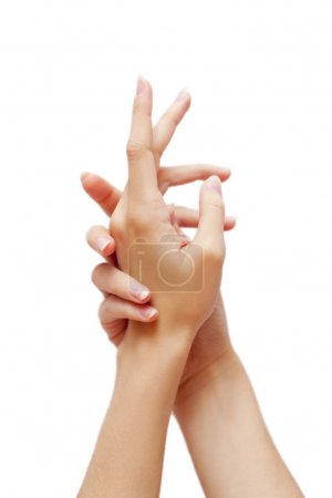 Sensual health care woman hands