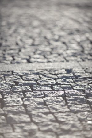 Background of Old Cobblestone Pavement Road