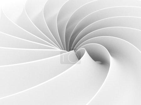 Photo pour White Abstract Wave Spiral Geometric Background. Illustration de rendu 3d - image libre de droit