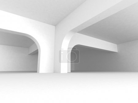Photo for White Abstract Architecture Background With Column. 3d Render Illustration - Royalty Free Image