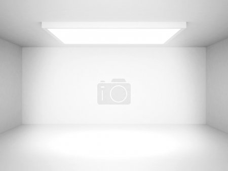 Photo pour Résumé White Futuristic Interior Background. Illustration de rendu 3d - image libre de droit