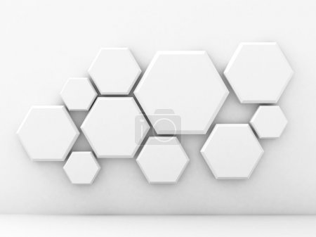 Abstract Geometric White Wall Background