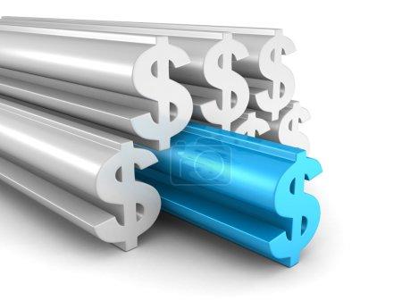 Dollar Currency Symbols With Forward Leader