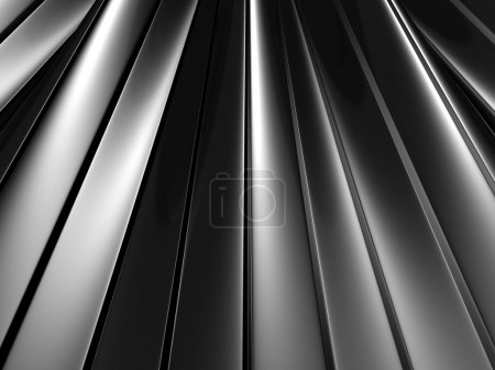 Abstract Silver Waved Surface Background
