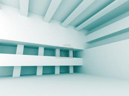 Photo pour Blue Abstract Architecture Design Fond géométrique. Illustration de rendu 3d - image libre de droit