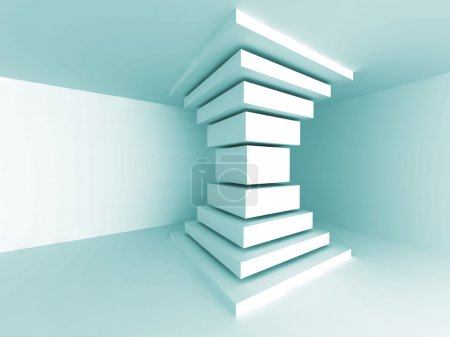 Photo for Abstract Architecture Column Design Background. Empty Room Interior. 3d Render Illustration - Royalty Free Image
