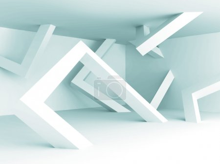 Photo for Abstract White Architecture Empty Interior Background. 3d Render Illustration - Royalty Free Image