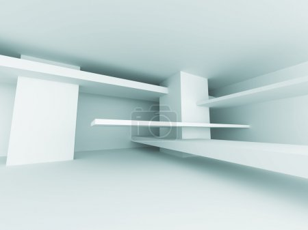 Photo for Abstract Architecture Design Geometric Interior Background. 3d Render Illustration - Royalty Free Image