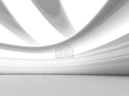 Futuristic White Geometric Background