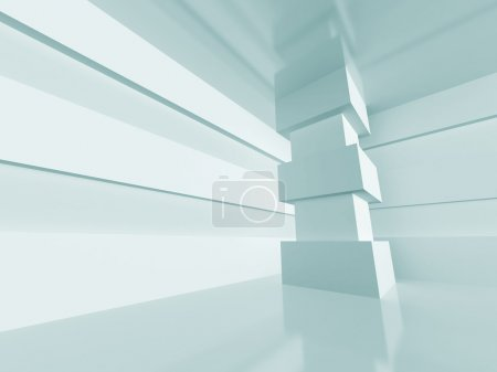 Photo for White Abstract Interior Architecture Background. 3d Render Illustration - Royalty Free Image