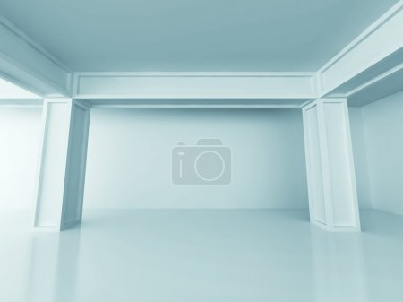 Abstract Architecture Design Column Background. 3d...