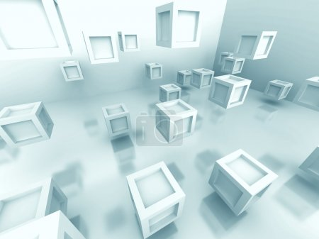 Abstract White Cube Blocks