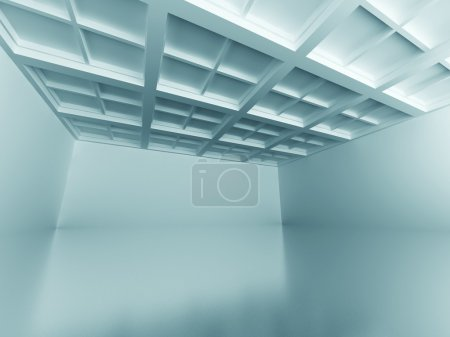 Photo for Emrty Room Architecture Design Interior Background. 3d Render Illustration - Royalty Free Image