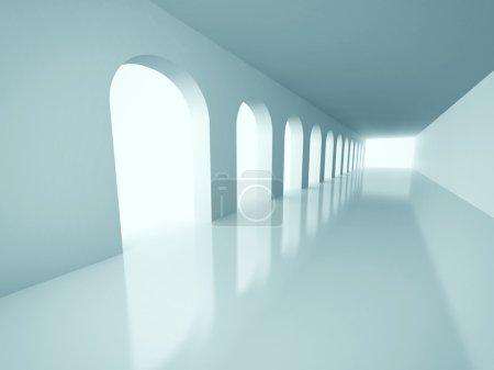 Architecture Corridor Interior Background