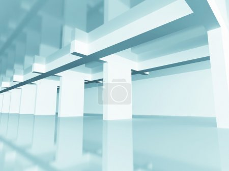 Photo for Abstract Modern Design Architecture Background. 3d Render Illustration - Royalty Free Image