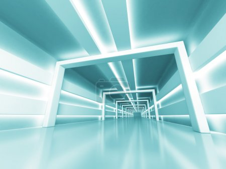 Abstract Futuristic Shiny Light Architecture Backg...