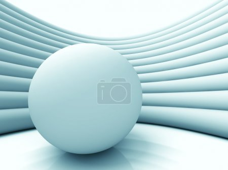 Photo for Abstract Sphere Ball Architecture Background. 3d Render Illustration - Royalty Free Image